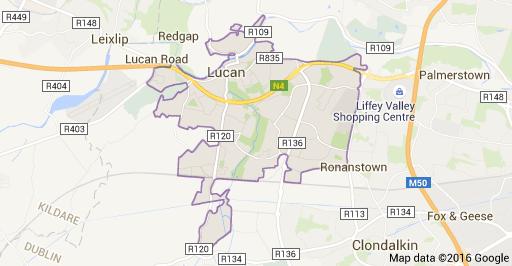 Map of Lucan, Dublin